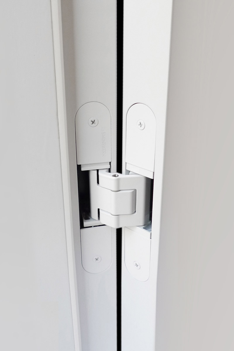 Sipery 2Pcs 360 Degree Door Pivot Hinges Stainless Steel Concealed Rotating Hidden Door Hinges Heavy Duty Brushed Finish